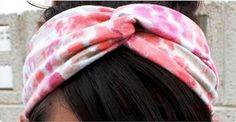 Como fazer um turbante faixa de cabelo com tiras de tecido | Cacareco