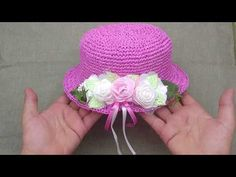 Knitting Videos, Crochet Videos, Sombrero A Crochet, Sewing Patterns, Crochet Patterns, Crochet Hat For Women, Crochet Baby Clothes, Kids Hats, Hat Making