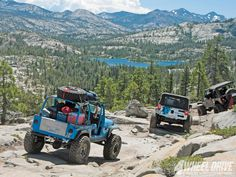 4 Wheelin' on the Rubicon trail. Would love to do that someday!