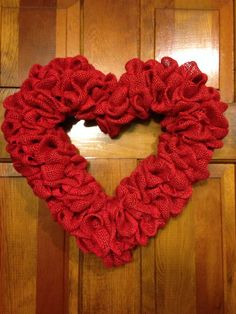 Burlap heart (weaved)