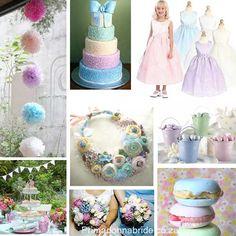 pastel themed wedding