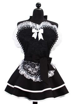 Pin Up Sexy French Maid Double Skirt Sweetheart by bambinoamore, $71.95
