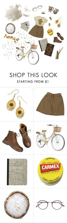 """""""sunflower"""" by peptidogglycan ❤ liked on Polyvore featuring My Mum Made It, Carmex, Times Two Design, Wildfox and Garrett Leight"""