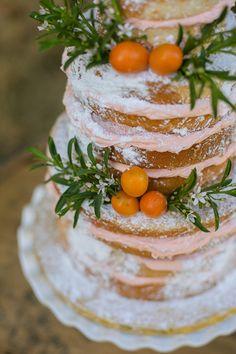 Cake Decor-Orange Grove Wedding Inspiration