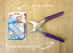 DIY : Poser des oeillets avec la pince Vario Prym