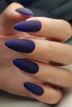 22 Of The Exceptional Galaxy Nail Art Designs Best for Night Parties - Nails , Bright Nails, Blue Nails, Matte Nails, My Nails, Dark Gel Nails, Dark Nail Art, Gradient Nails, Cute Acrylic Nail Designs, Blue Nail Designs