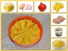 Dýňový kuskus s kukuřicí (8-9m) Pudding, Ethnic Recipes, Desserts, Food, Tailgate Desserts, Deserts, Custard Pudding, Essen, Puddings