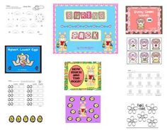 This Spring / Bunny Time Unit is just in time for the holidays or just to use to  add some spark into your literacy and math centers.  There are a ...