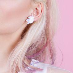 Boucles d'oreilles Licorne arc-en-ciel par Natoo
