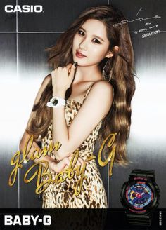 150221 CASIO - Baby-G SNSD Poster - Seohyun