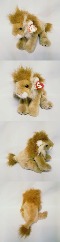 55dfee32803 Retired 1636  New Ty Classics Original Beanie Sahara The Lion Large Plush  Toy 12 With