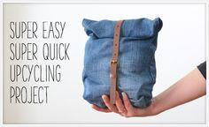20 Minuten Zeit und Lust, aus einer alten Jeans und einem alten Gürtel eine…
