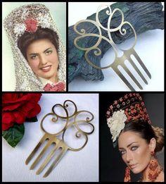 Large Spanish mantilla Art Deco style hair comb hair accessory