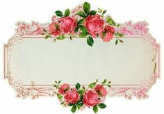 VINTAGE PINK ROSE LABELS.  YOU COULD ALSO USE ON FB.