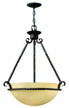 Hinkley Lighting H4313 3 Light Indoor Bowl Shaped Pendant from the Casa Collecti Olde Black Indoor Lighting Pendants