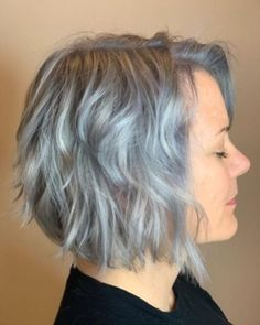 Youthful short hairstyles for women over with fine & thick hair Grey Bob Hairstyles, Short Hairstyles For Thick Hair, Short Hair With Bangs, Short Hairstyles For Women, Messy Hairstyles, Short Hair Cuts, Curly Hair Styles, Short Hair Over 50, Hairstyles For Over 50