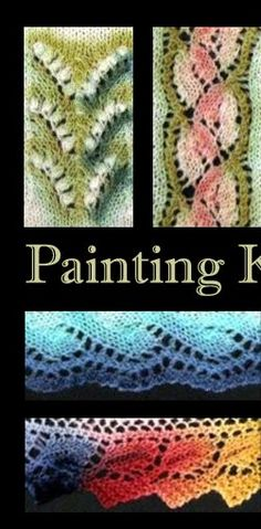 Painting Knitted Lace with Dye (two parts to the article, click on Contents to go to part II)