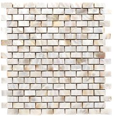 WHITE PEARL BRICK PATTERN Mother of Pearl Code:  IO.WHT.PRL.0,6X1,2