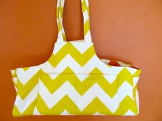 Maggie #17 Designer Cotton, Chevron Design in Two Colors, Dog Carrier, Up Cycled Fabric