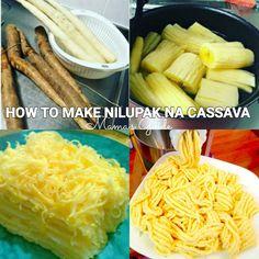 Nilupak na Cassava is a Filipino favorite kakanin. It is made of mashed cassava with butter or cheese. Everyvody loves Nilupak na cassava since childhood. Filipino Dishes, Filipino Desserts, Asian Desserts, Filipino Recipes, Asian Recipes, Ethnic Recipes, Filipino Food, Cassava Recipe, Cassava Cake