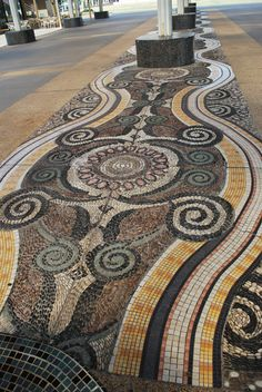 Mosaic floor at a shopping mall in Malacca, Malaysia. Photo: simpleandgayforward.wordpress.com