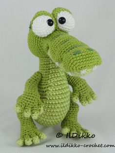 This listing is for a crochet pattern and not a finished item!!!  Conrad the Crocodile:  The pattern is very detailed and contains a lot of pictures.