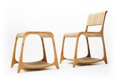 Inspired by London's heaps of discarded furniture and usable timber, Ryan Frank's Strata line turns deconstructed old office furniture and FSC wood into new, sleek chairs and tables.