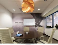 Custom Wall covering and whiteboard for a small conference room