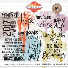Word art {add on} - M3 January '17