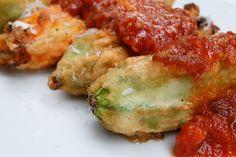 Ricotta stuffed Zucchini Flowers with Tomato Sauce by cookeatlove #Zucchini_Flowers #cookeatlove