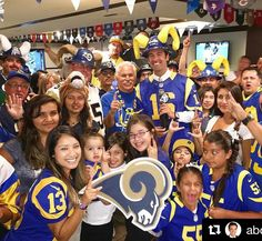 Big shout out to @abc7elex for repping his Rams sign! #fanfave #espn #wallart #abc #rams #la #sports #sign #signs #football #nfl #losangeles #party #picture