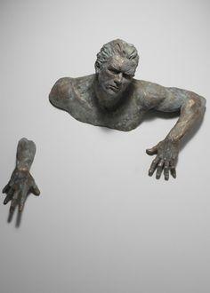 Magazine - Sculptures Stuck in Walls by Matteo Pugliese