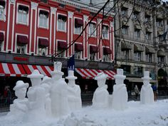 Snow sculptures in Oslo