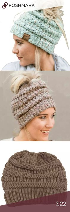 9a97062f1 47 Best ponytail beanie images in 2018   Crochet hats, Crochet ...