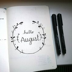 Hello August! I can't believe July is almost over! I find some time this morning to create this lovely 'hello August' page.