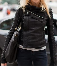 Style Inspiration: Black Leather & Classic Essentials