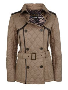 Barbour Gold Label by Temperley Quilted Northumbrian Trench Jacket in Mink