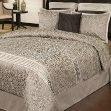 Zebra Platinum 6 Piece Comforter Set
