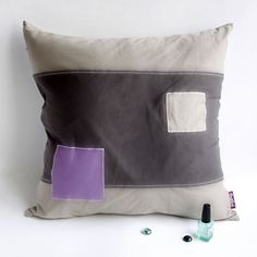 Simple Fashion Knitted Fabric Patch Pillow Cushion