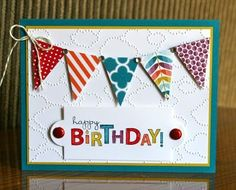 Great kids card!  Stampin' Up! Birthday by Krystals Cards and More: Bring on the Cake by katie