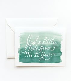 Watercolor Note Card - Blue, ombre - Rifle Paper Co.