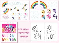 My Little Pony Birthday My Little Pony Birthday Party, 5th Birthday, Birthday Cake, Twilight Sparkle, Rainbow Dash, Anniversaire My Little Pony, Bday Girl, Party Printables, Party Time