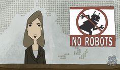 No Robots é uma animação que se passa em um futuro onde os robôs são discriminados na sociedade.  Confira! http://ilustracaodeideias.com.br/animacao/robots/ #Animacao #Animation #IlustracaodeIdeias #KimberlyKnoll #MarkosMugen #NoRobots #YunghanChang