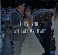 aria montgomery, christmas, cute, dance, ezra fitz, ezria, love, pretty little liars