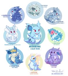 abgallery:  I wasn't going to get involved at first, but call it a failing, I can be coddling when it comes to Nidorina. I wanted to make sure there was a fair representation out there for our little chimeric friend.  The many kinds of nidorina