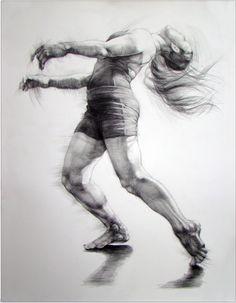 Dance drawings by Karolina Szymkiewicz, via Behance