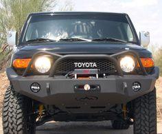 Expedition One Trail Series Diamond Front Bumper with Powder Coat Toyota FJ Cruiser Fj Cruiser Mods, Toyota Fj Cruiser, Hi Lift Jack Mount, Fj Cruiser Accessories, Voodoo Blue, Rock Sliders, Lift Kits, 4x4 Trucks, Trd