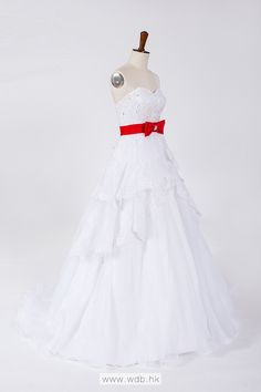 Sweetheart Ball Gown Tulle wedding dress $278.98