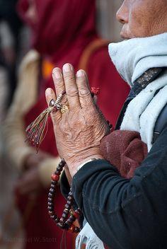 Prayer. #mala beads. photo by Nathaniel Stott