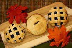 Miniature Pies baked in Mason Jar lids!